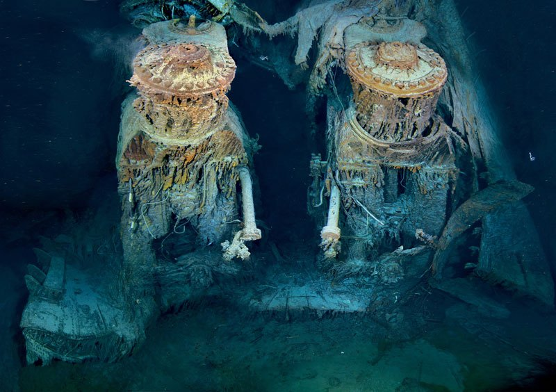Scuba Picture of the Day: Titanic's Engines Underwater