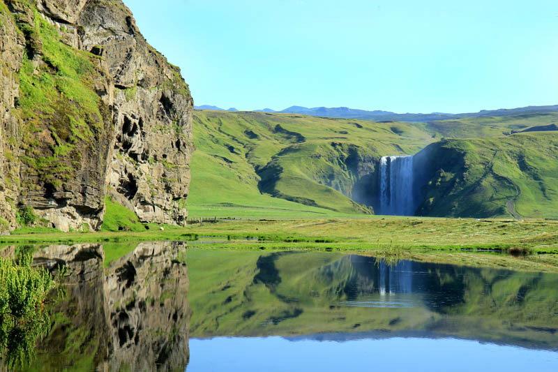 Camp and Hike HE BREATHTAKING SKOGAFOSS FALLS IN ICELAND