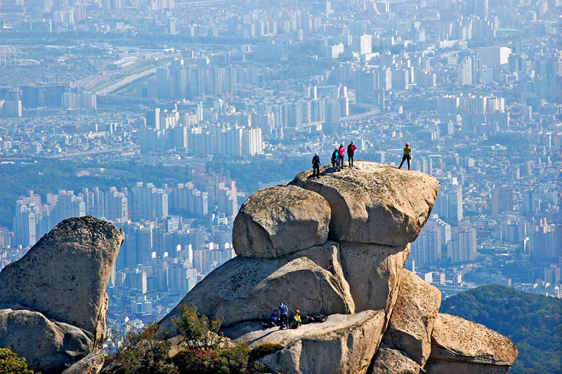 Camp and Hike Overlooking Seoul from Bukhan Mountain