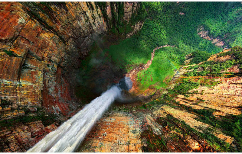 Camp and Hike Dragon Falls, Venezuela from Above