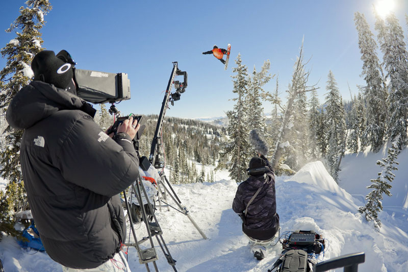 Snowboard Curtis Morgan Filming – Jackson Hole, WY, USA