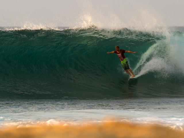 Surf Seabass just won the Reef Hawaiian Pro and in doing so qualified for the 2013 ASP World Tour Surfing.