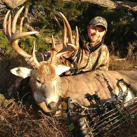 Hunting Congratulations Michael Waddell on arrowing his largest buck ever yesterday morning at 7:30 AM in Kansas. The buck measured an impressive 191-inches!