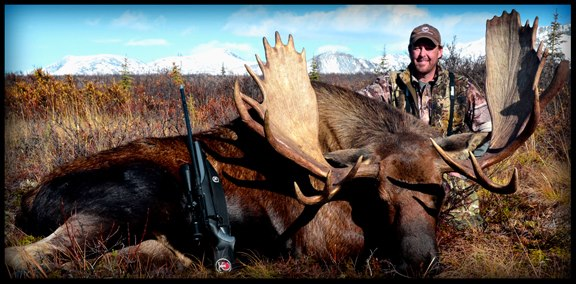 Hunting Tim Herald of Tim Herald Outdoors took this monster bull moose in Alaska last week while hunting with Xtreme Xpeditions and the Magnum Hunt Club.