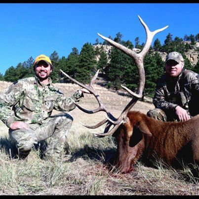 Hunting On the board! Nick Mundt (left), with Realtree cameraman Stephen McNelly, scored on this 300+ class bull elk Wednesday, Sept. 5th in Wyoming!