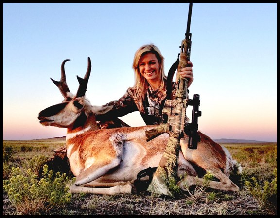 Hunting Haley Heath's 74-inch New Mexico antelope that she spent nearly 3-hours belly crawling to get the shot. Haley was hunting with Antler Addiction Outfitters.