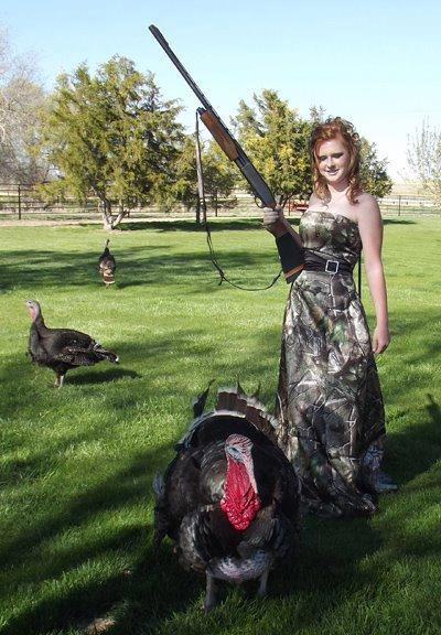Hunting Shelby Leann Selby from Nebraska of her wearing the Realtree camo prom dress she bought in the Realtree.com RealStore (http://store.realtree.com)