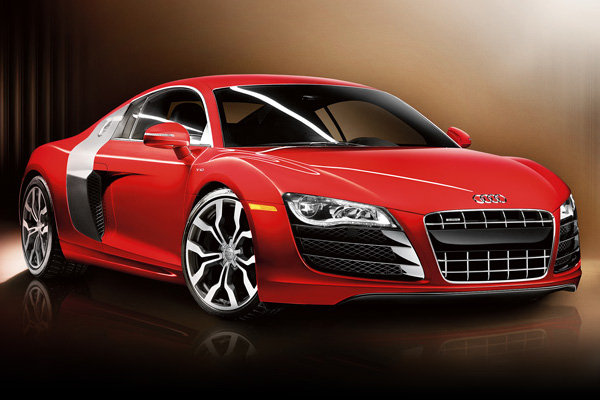 Auto and Cycle 2014 Audi R8 V10 Plus has a mid-mounted 550 horsepower V10 engine