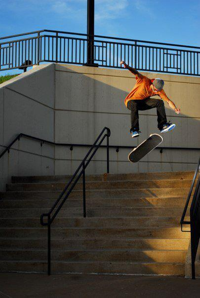 Skateboard MAJER friend, John Oskvarek  With a 360 flip!!  If you have a Sick pic, Msg it to us and we will post it!!?? Like the Majer Crew Page for more pics and Videos! Watch our MAJER videos HERE!! http://www.youtube.com/user/MajerCrew . .