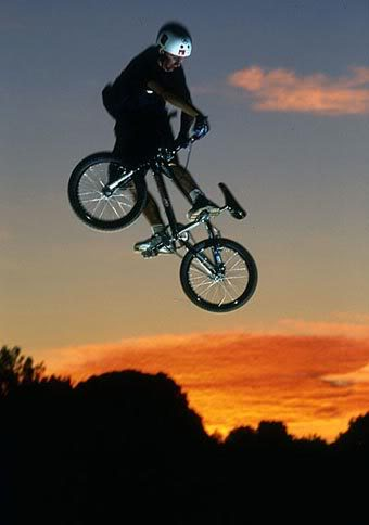 BMX one more ride at sunset