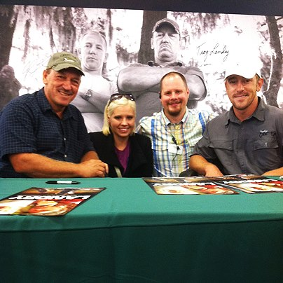 Check out who stopped by the grand opening of our new store in Florence, AL.  Troy and Chase Landry from Swamp People spent yesterday afternoon taking pictures and signing autographs for fans and helped us celebrate our newest location.