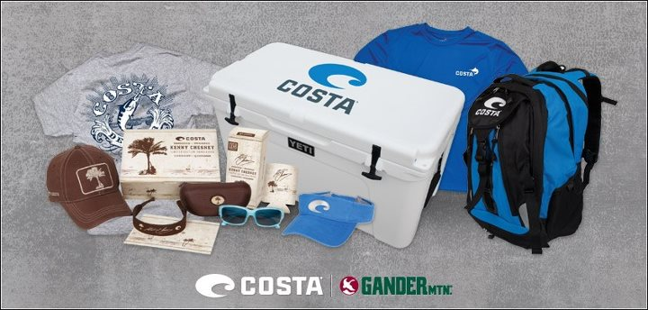 "FINAL DAY to enter the Costa/Gander Mountain Tailgate Package Sweepstakes! You could win a $1,000 package of gear that includes a Yeti Roadie cooler, Costa backpack, t-shirts, visors, Kenny Chesney Costa sunglasses and more! Click on the ""Costa Sweepstake"