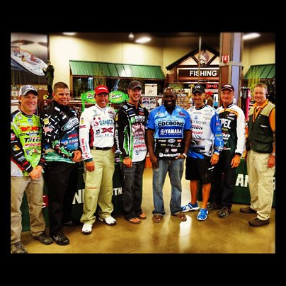 Thanks to the Bassmaster anglers who appeared at the La Crosse, WI Gander Mountain store this past weekend!  It was a great event.  Pictured from left to right: Brent Chapman, Chris Lane, Dean Rojas, Jonathon VanDam, Ish Monroe, Randy Howell and Gary Klei