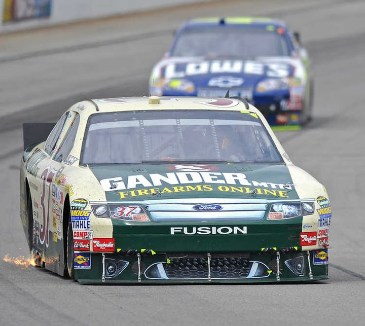 David Gilliland races in the Gander Mountain Ford in the Pennsylvania 500 at Pocono.