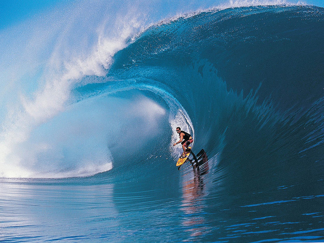 Surf Surfing in Teahupoo - Tahiti