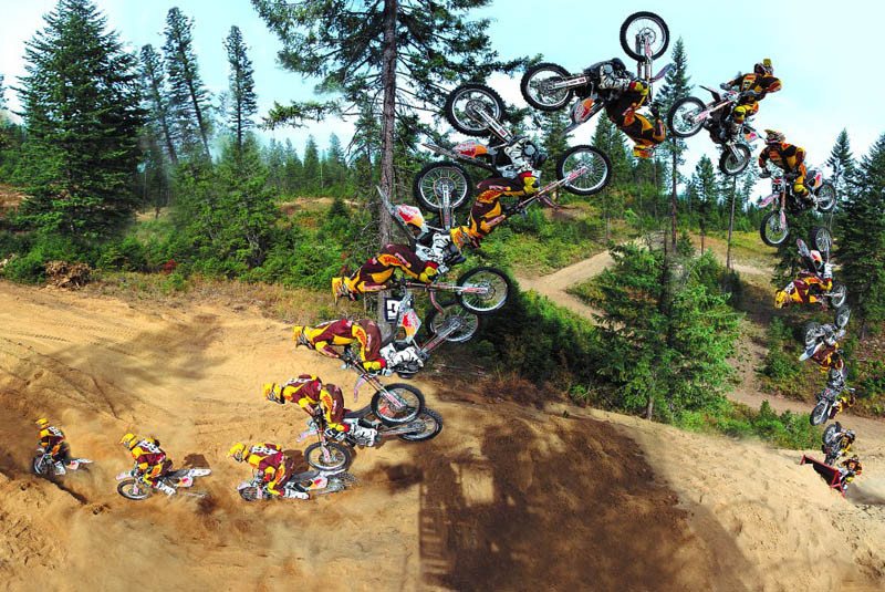 Motorsports TRAVIS PASTRANA DOES A DOUBLE BACKFLIP