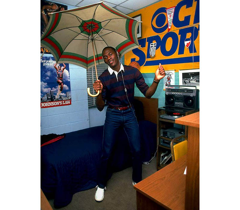 Sports Picture of the Day: Michael Jordan in His College Dorm Room, 1983