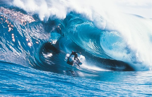 Surf Tasmanian surfer Andy Campbell at Shipstern Bluff
