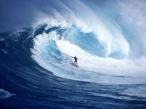 Surf Surfing A Gnarly