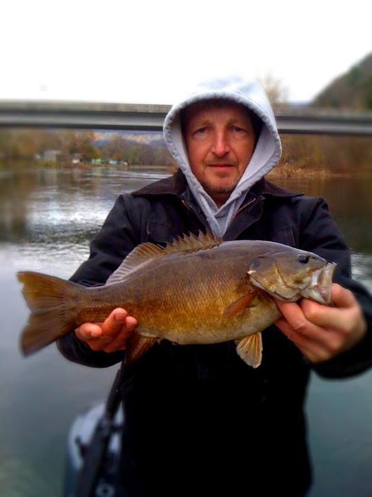 Entertainment Cold day on the river but caught some quality smallies on xrap in perch color.  - David morningstar.