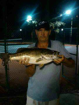 Entertainment Max Kennedy Caught this bass at mariners wharf in Jacksonville Florida on a culprit red shad