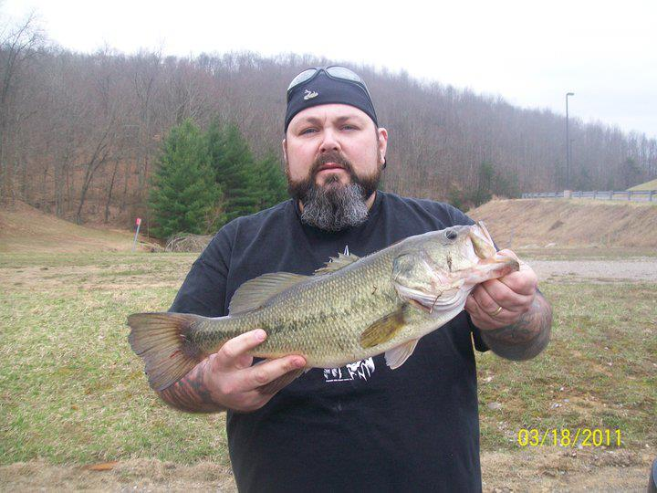 Entertainment Chad Williams caught this bass on a weedless hook and rubber fluke