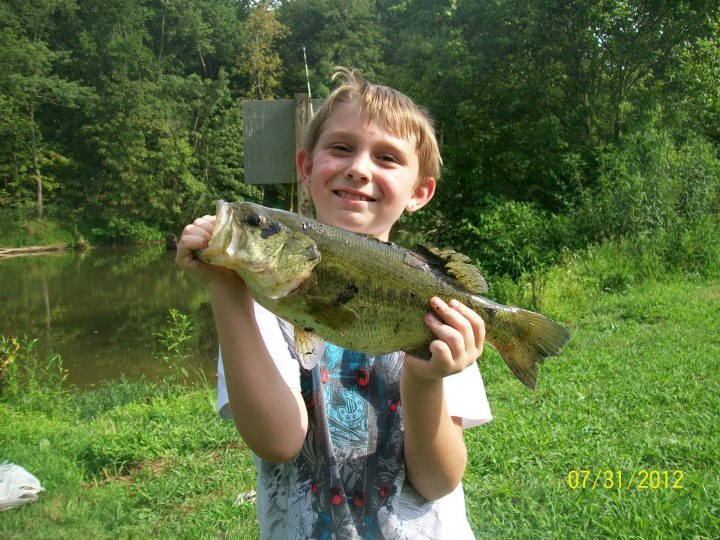 "Entertainment Chad Williams teels us:  ""MY 9 YEAR OLD SON'S LARGEST BASS TO DATE HE CAUGHT ALL BY HIMSELF ON A CREEK CHUB!"""