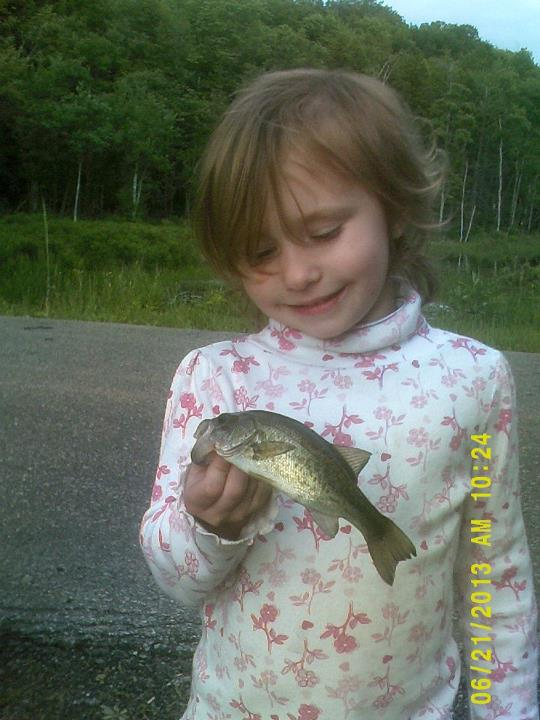 Fishing Kay kay's first Bass!