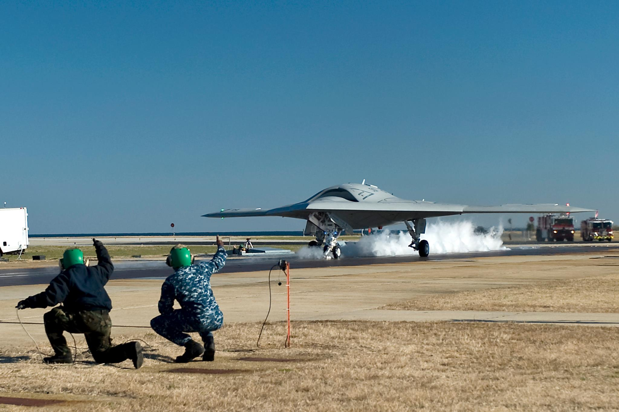 Guns and Military First X-47B UCAS Catapult Launch Makes Naval Aviation History.