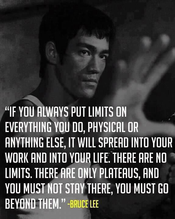 Bruce Lee would have been 72 today.  His life was a true example of living unbound.