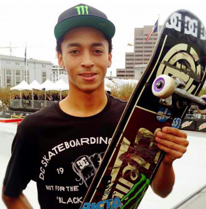 Skateboard And here is your winner, Nyjah Huston.  Stance photo