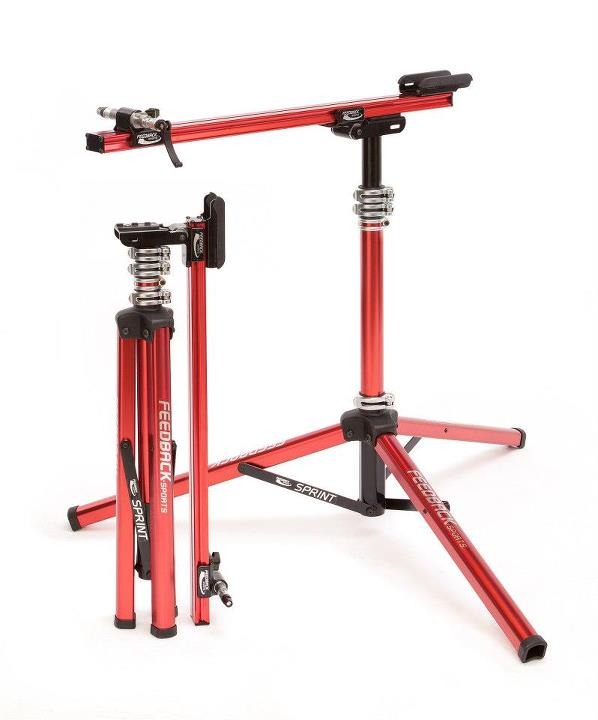 Fitness •	Single Point Quick Release mount  •	360° Bicycle Rotation  •	Compatible with all fork and rear dropouts •	Quickly folds into our most compact unit •	Adjustable height; stable tripod design