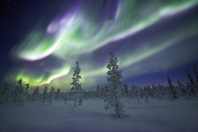Camp and Hike Incredible display of aurora in Sweden