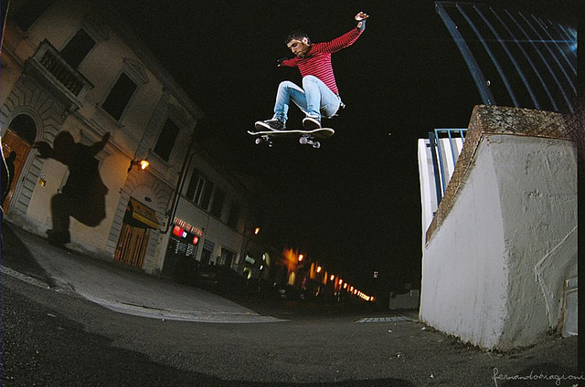 Skateboard francesco - ollie to road