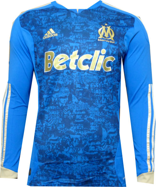 Entertainment Youth Olympique Marseille Away Long Sleeve Soccer Jersey 11/12