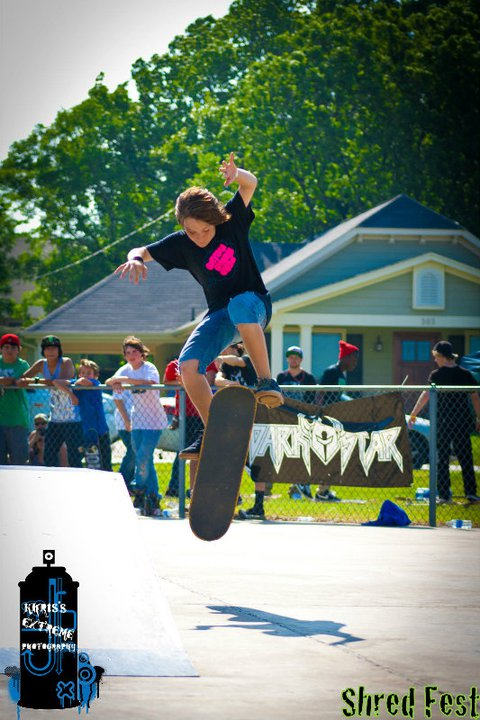 Skateboard another pic from my first comp. weired ass hard flip of fun box