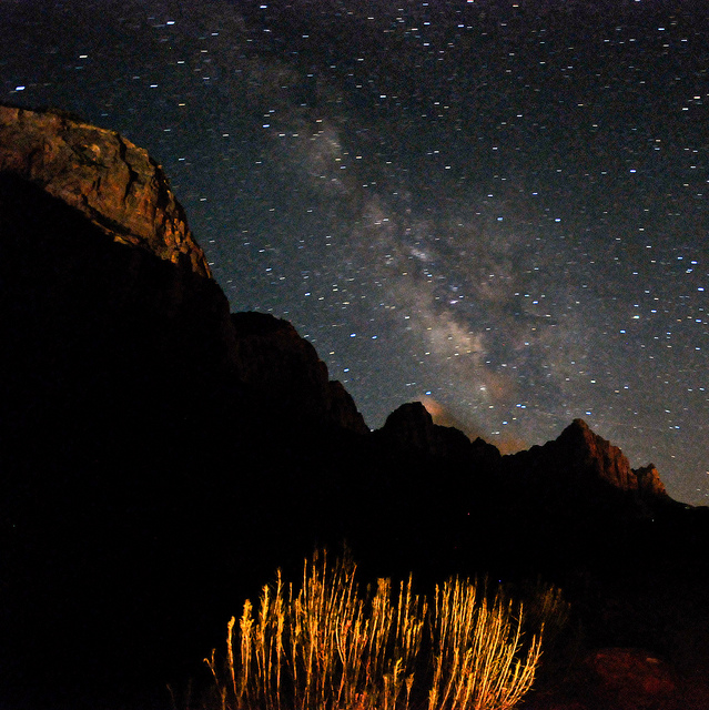 Camp and Hike The Milky Way & Light-Painted Watchman Mtn @ Zion NP