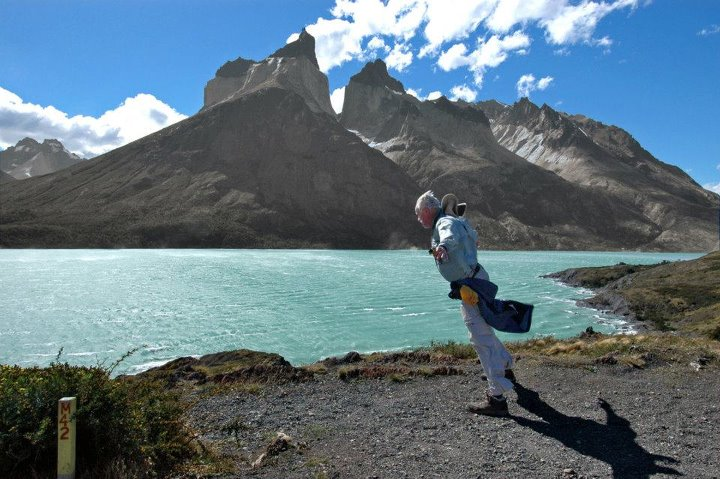 Camp and Hike For this week's Travel Tuesday ... check out this windy scene from Salto Grande Viewpoint in the Chilean Patagonian mountains, during an REI Adventures trip.  Winds are one constant in Patagonia -- varying from a comfortable breeze to gale force winds rea