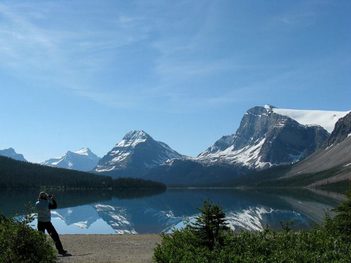 Camp and Hike For Travel Tuesday today, we're reflecting on 2011 and pining for clear blue skies, snow capped mountains and fresh air.  Speaking of reflections -- we were taken by this shot from one of our REI Adventures Canadian Rockies Hiking Plus trips (see http://b