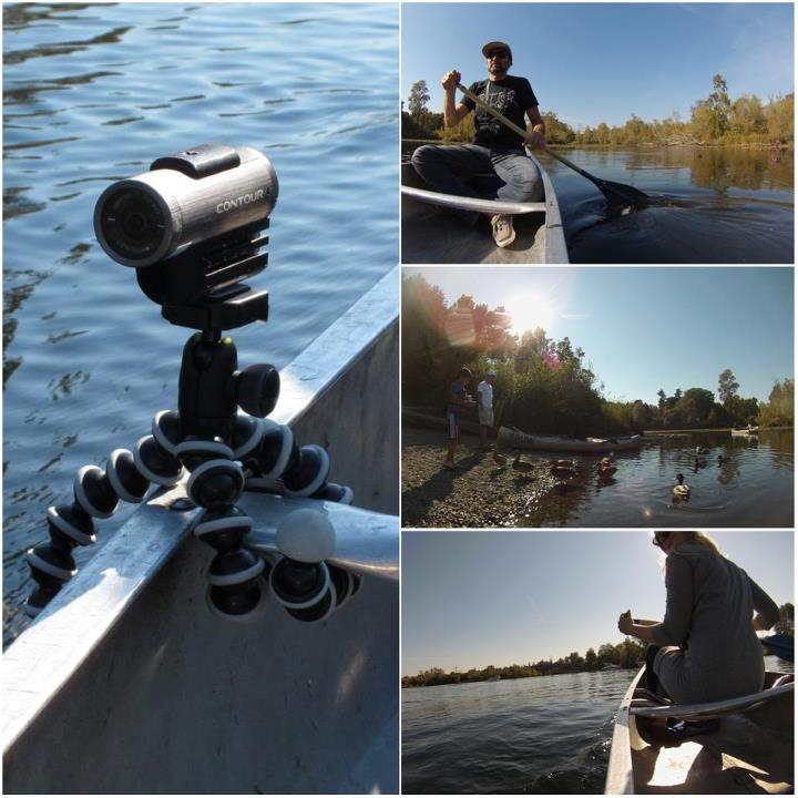 Kayak and Canoe The new Contour+2 worked great in photo mode with a Gorilla pod while canoeing this weekend.