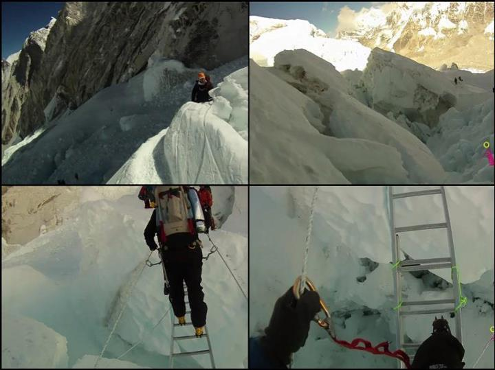 Climbing Climbing through the Khumbu icefall on Mt. Everest looks a bit challenging.   Watch the video on the Contour blog: http://bit.ly/ONf8Oe