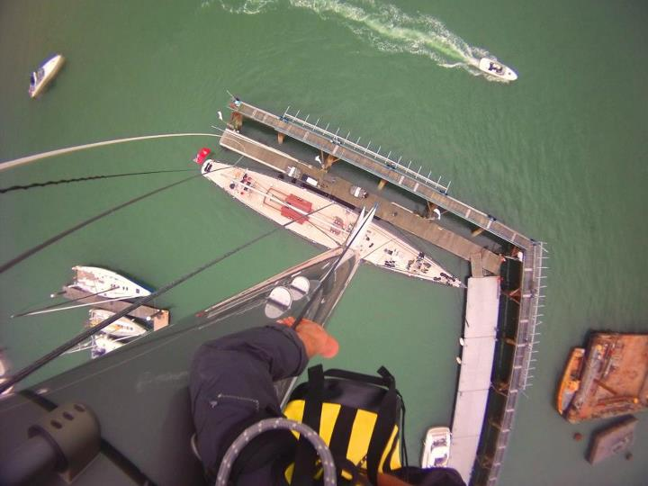 "Wake Hit the ""LIKE"" button if you're not scared of heights?  From Contour fan Tim N. ""The view 52m up. The J Class yacht RAINBOW prepares for the Solent J Class Regatta at Endeavour Quay, UK - July 2012""  Submit your images and view almost 300 other Contour ph"