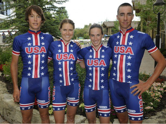 "Fitness Today USA Cycling released the kits that will be worn by Team USA at the upcoming London Olympics. What do you think of the ""throwback"" design? They are based on the kits worn at the 1984 Los Angeles Olympic Games.... 