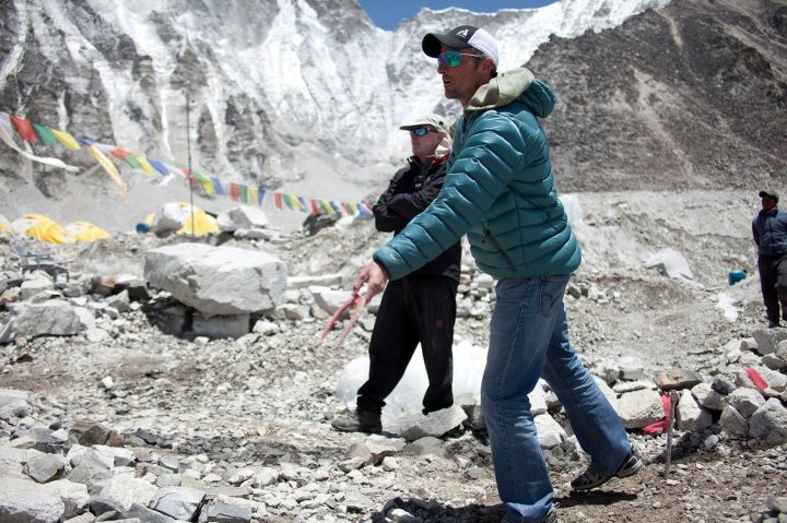 Camp and Hike On the Fifth Day of Downlight…we're bringing the 50% in-store Downlight Jacket discount and this great Downlight exposure of EB FA guide Seth Waterfall getting into a serious game of horseshoes at Everest base camp.  Shop Women's Downlight: http://ow.ly/f