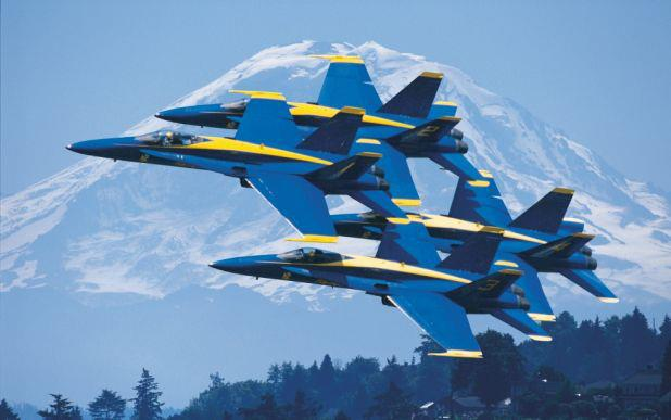 Guns and Military It's Seafair weekend here in Seattle. Where is your favorite place to watch the Blue Angels?   (Photo via The Museum of Flight http://www.museumofflight.org/blueangels)