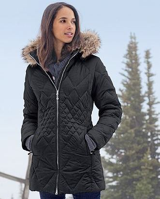 Entertainment SlopeSide® Down Parka: Our Slope Side Parka was featured in O, The Oprah Magazine as a fashionable way to to beat winter's chill. We've updated our Slope Side Parka with a unique quilting pattern that helps create a flattering silhouette. http://getoutsi.