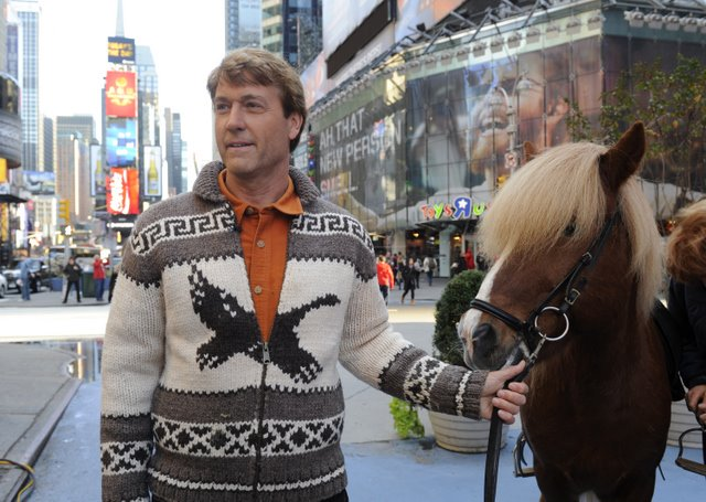 "Entertainment GOOD MORNING AMERICA - ""Born to Explore"" host Richard Wiese brings Icelandic horses to Times Square, 10/28/11..   (ABC/Ida Mae Astute)