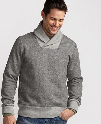 Camp and Hike Marled Shawl-Collar Fleece. Perfect for watching the game, taking a hike or just hanging out. http://getoutsi.de/mRuof7