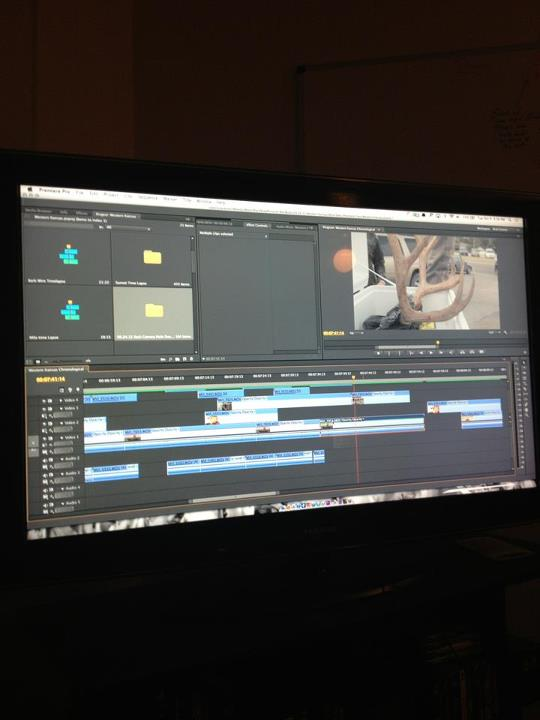 Entertainment Gotta love Editing on a 50 inch TV! Episode 3 airing this week. Stay tuned...