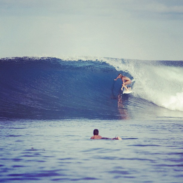 Surf Looking for tubes in all the right places...LeeAnn Curren   http://instagr.am/p/Q9OE6EMItk/